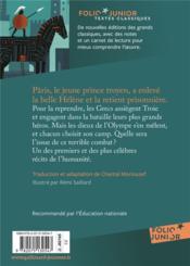 L'iIiade - 4ème de couverture - Format classique