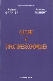 Culture Et Structures Economiques ; Vers Une Economie De La Diversite - Intérieur - Format classique