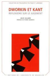 Dworkin et kant. reflexions sur le jugement - Couverture - Format classique