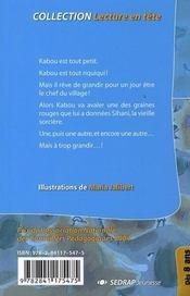 Kabou a encore grandi ; CE2/CM1 - 4ème de couverture - Format classique