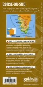 Corse du sud ; Ajaccio, Propriano, Sartène, Bonifacio, Porto-Vecchio - 4ème de couverture - Format classique