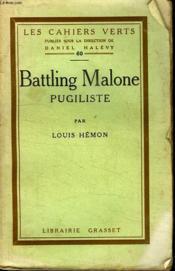 Battling Malone Pugiliste. - Couverture - Format classique