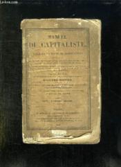 MANUEL DU CAPITALISTE OU TABLEAUX EN FORME DE COMPTES FAITS. 12em EDITION. - Couverture - Format classique