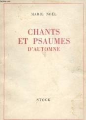 Chants Et Psaumes D'Automne - Couverture - Format classique