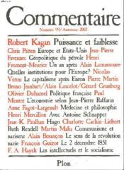 Revue Commentaire N.99 - Couverture - Format classique