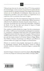 Vidocq, du bagne à la préfecture - 4ème de couverture - Format classique