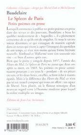 Le Spleen De Paris Petits Poèmes En Prose Charles Baudelaire