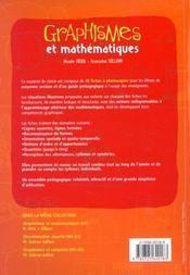 Graphismes et mathématiques ; MS ; fiches à photocopier - 4ème de couverture - Format classique