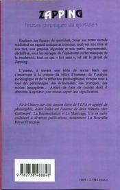 Zapping ; Petites Chroniques Du Quotidien - 4ème de couverture - Format classique