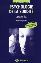 Psychologie de la surdité (3e édition) - Intérieur - Format classique