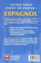 Qcm exercices espagnol - 4ème de couverture - Format classique