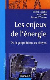 Les enjeux de l'énergie ; de la géopolitique au citoyen - Couverture - Format classique