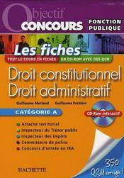 Droit adminitratif et constitutionnel - Intérieur - Format classique