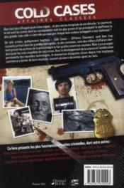 Cold case (edition 2011) - 4ème de couverture - Format classique