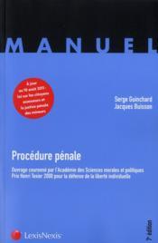 telecharger Procedure penale (7e edition) livre PDF/ePUB en ligne gratuit