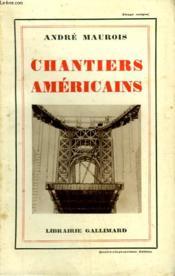 Chantiers Americains. - Couverture - Format classique
