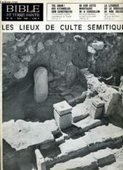 Bible Et Terre Sainte N°92 : Les Lieux De Culte Semitique - Couverture - Format classique