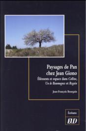 Paysages de pan chez jean giono - Couverture - Format classique