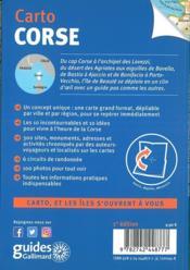 Corse (édition 2018) - 4ème de couverture - Format classique