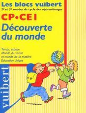 Bloc Decouverte Du Monde Cycle2 Hist-Geo. Scien,ces , Education Civque - Intérieur - Format classique