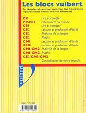 Bloc Decouverte Du Monde Cycle2 Hist-Geo. Scien,ces , Education Civque - 4ème de couverture - Format classique