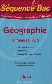 Geographie terminale - Couverture - Format classique