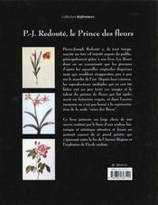 Redoute Le Prince Des Fleurs - 4ème de couverture - Format classique