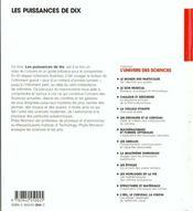 Puissances de 10 98 - 4ème de couverture - Format classique