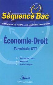 Economie-droit terminale stt - Intérieur - Format classique