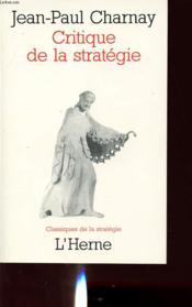 Critique de la strategie - Couverture - Format classique