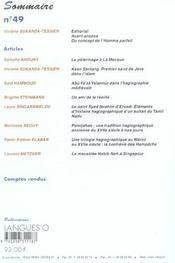 Cahiers De Litterature Orale N.49 ; Les Saints Méconnus De L'Islam - 4ème de couverture - Format classique