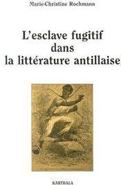 L'esclave fugitif dans la littérature antillaise - Couverture - Format classique
