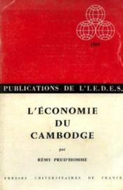L'économie du cambodge - Couverture - Format classique