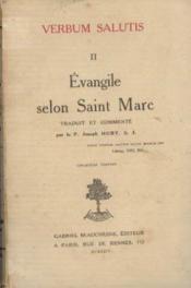Evangile selon Saint Marc. Verbum salutis, tome deuxième - Couverture - Format classique