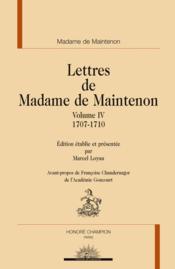 Lettres t.4 ; 1707-1710 - Couverture - Format classique