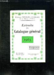 Extraits Du Catalogue General. 1963. Enseignement. - Couverture - Format classique