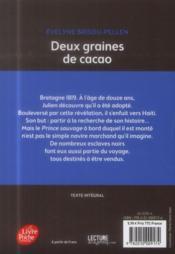 Deux graines de cacao - 4ème de couverture - Format classique