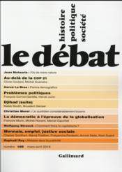Revue Le Débat N.189 ; mars-avril 2016 - Couverture - Format classique