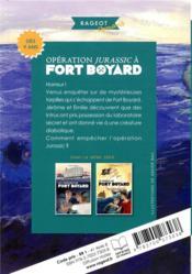 Fort Boyard t.7 ; opération Jurassic à Fort Boyard - 4ème de couverture - Format classique