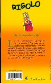 Rigolo T.18 ; Frousse De Dingue - 4ème de couverture - Format classique