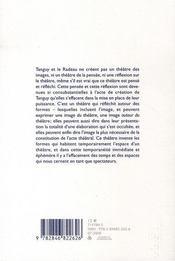Francois Tanguy et le radeau ; articles et études - 4ème de couverture - Format classique