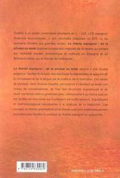 Le thème espagnol : de la phrase au texte - 4ème de couverture - Format classique