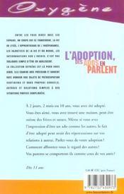 Adoption, Les Ados En Parlent - 4ème de couverture - Format classique