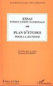 Essai D'Education Nationaleou Plan D'Etude Pour La Jeu - Couverture - Format classique