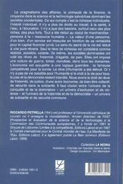 Desir D'Humanite ; Le Droit De Rever - 4ème de couverture - Format classique