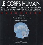 Le corps humain ; étude, structure et fonction ; le rôle infirmier dans la pratique clinique - Intérieur - Format classique