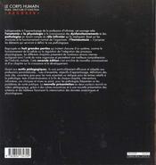 Le corps humain ; étude, structure et fonction ; le rôle infirmier dans la pratique clinique - 4ème de couverture - Format classique