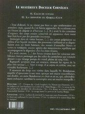 Le mystérieux docteur Cornélius t.11 et t.12 - 4ème de couverture - Format classique