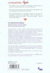 La psychosomatique - 4ème de couverture - Format classique