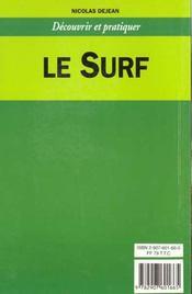 Surf (le) - dp - 4ème de couverture - Format classique
